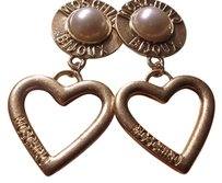 Moschino VINTAGE MOSCHINO BIJOUX, Gold Hearts And Pearls