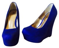 Mossimo Wedge Platform Blue Wedges