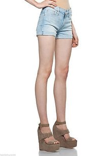 Mother Short Fray Cuff Cut Off Shorts Blue