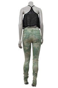 Mother Green Looker Skinny Jeans