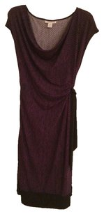 Motherhood Maternity Purple And Black Maternity Dress