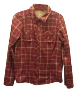 Mountain Hardwear Flannel Plaid Button Down Button Down Shirt Pink