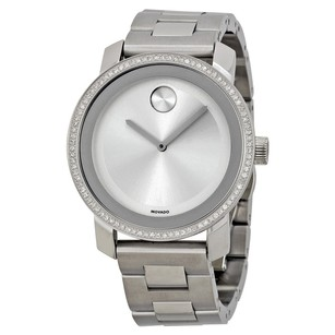 Movado Bold Diamond Silver Dial Stainless Steel Ladies Watch MV3600149