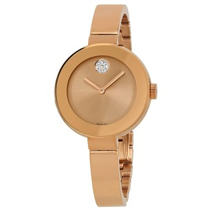 Movado Bold Rose Dial Rose Gold Ion-plated Ladies Watch MV3600202