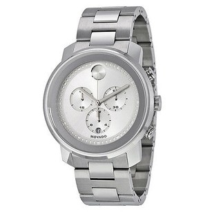 Movado Movado Bold Silver Dial Stainless Steel Case And Band Mens Quartz Watch