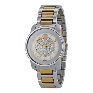 Movado Movado Bold Silver Dial Two-tone Ladies Watch