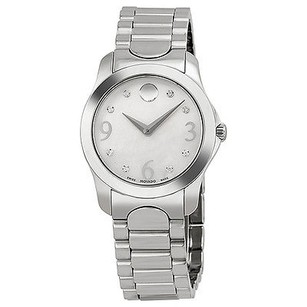 Movado Movado Diamond Mother Of Pearl Dial Stainless Steel Ladies Watch