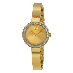 Movado Movado Gold Dial Yellow Gold-plated Ladies Watch