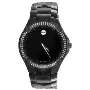 Movado Movado Luno Sports Watch Museum Dial All Black Real Diamonds Party Wear High End