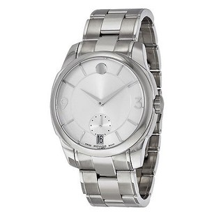 Movado Movado Lx Silver Dial Stainless Steel Mens Watch