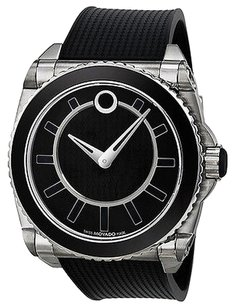 Movado Movado Master Automatic Black Dial Stainless Steel Mens Watch