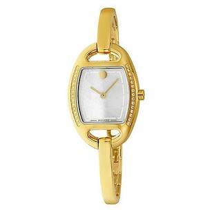 Movado Movado Miri Diamond Mother Of Pearl Dial Gold-tone Stainless Steel Ladies Watch