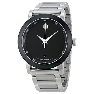 Movado Movado Museum Black Dial Stainless Steel Mens Watch