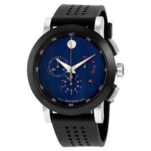 Movado Movado Museum Chronograph Navy Blue Dial Mens Watch