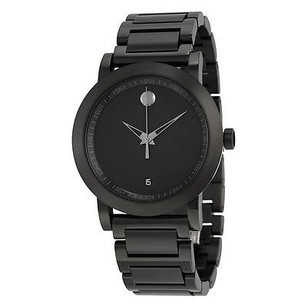 Movado Movado Museum Sport Black Dial Black Pvd Stainless Steel Mens Watch