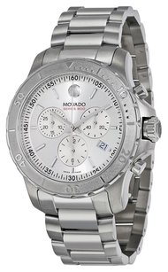 Movado MOVADO Series 800 Chronograph Silver Dial Stainless Steel Men's Watch MV2600111