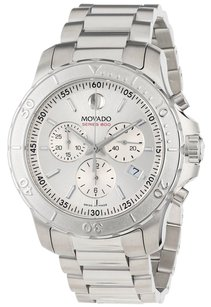 Movado Movado Series 800 Silver Dial Stainless Steel Mens Chronograph Watch 2600111