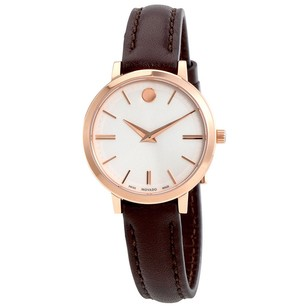 Movado Movado Slim Dial Ladies Leather Watch