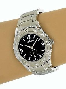 Movado Movado Stainless Steel Mid-size Duel Dial Mens Wrist Watch Quartz Model 1890