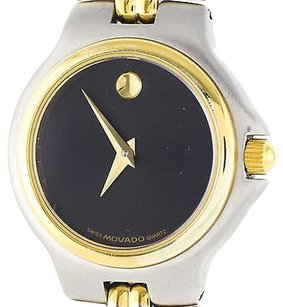 Movado Movado Two-tone Stainless Steel Ladies Black Watch