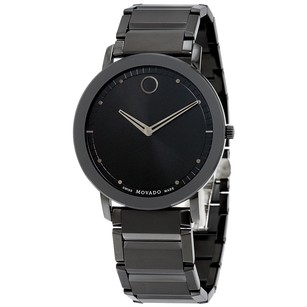 Movado Sapphire Black Dial Black PVD Stainless Steel Men's Watch MV0606882