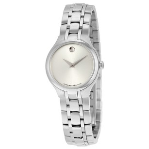 Movado Silver Dial Stainless Steel Ladies Watch MV0606451