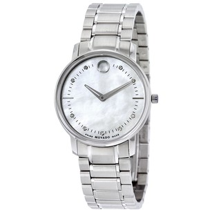 Movado TC Diamond Mother of Pearl Dial Stainless Steel Ladies Watch MV0606691