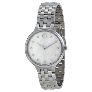 Movado Trevi Mother of Pearl Dial Stainless Steel Ladies Watch MV0606810