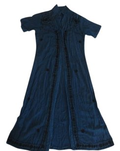 blue Maxi Dress by MPH Vintage Clothing