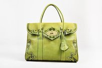 Mulberry Pebbled Tote in Green