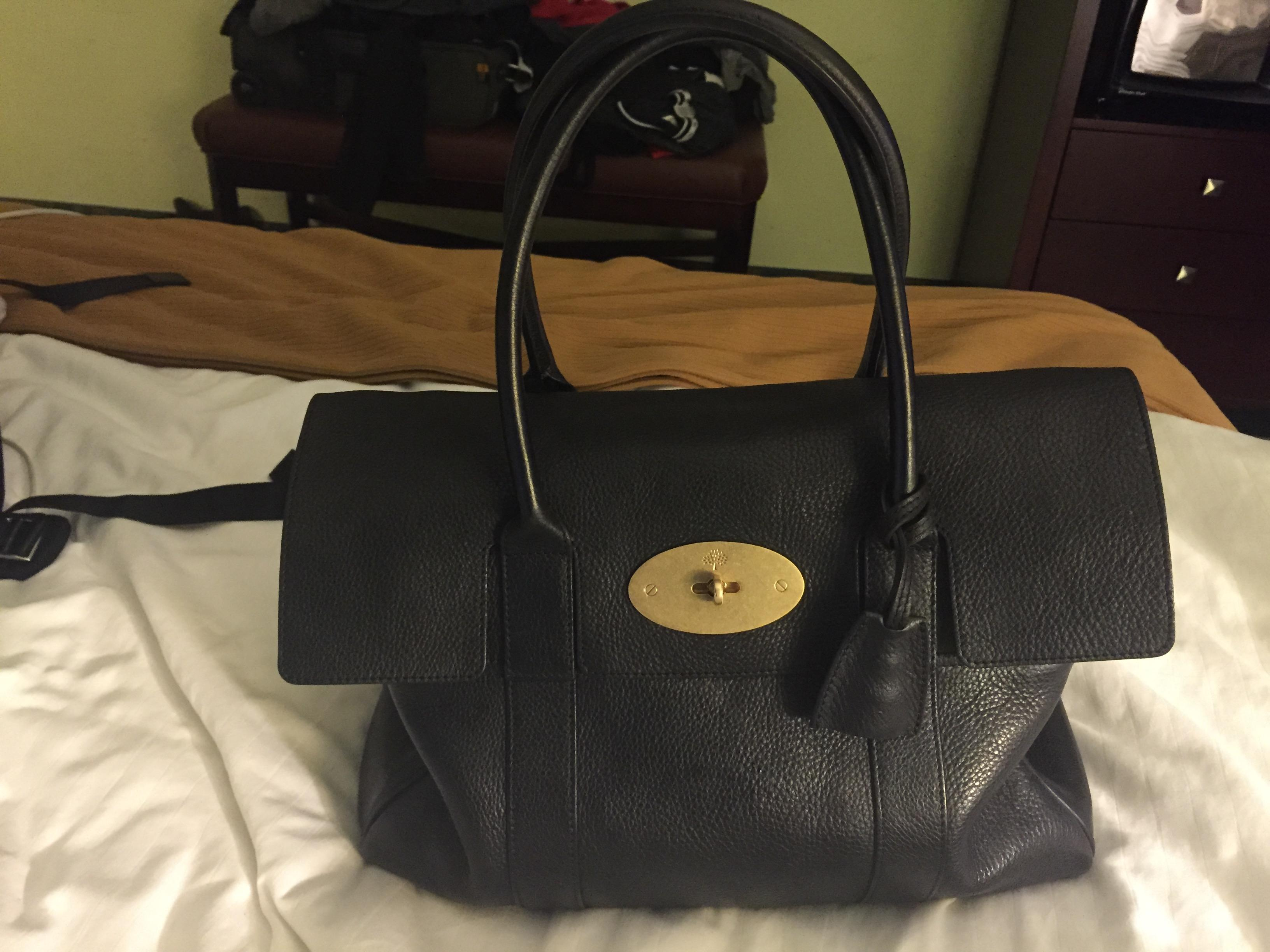 ... low price mulberry bayswater leather brass gold new shoulder bag. 826126be60de5