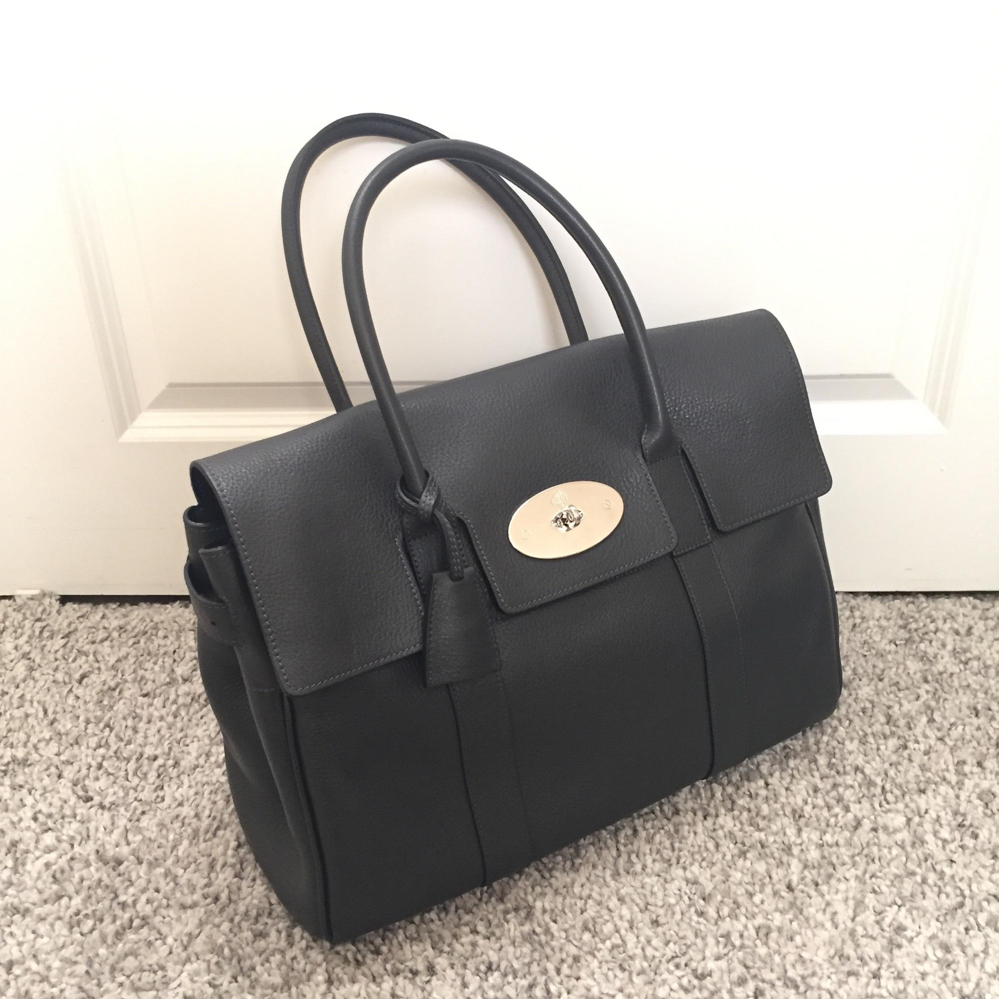 ... clearance mulberry bayswater graphite grey pebbled leather satchel  tradesy 8101c 2d05f 0d1294568b5c9