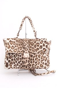 Mulberry White Leopard Animal Print Messenger Ponyhair Cross Body Bag