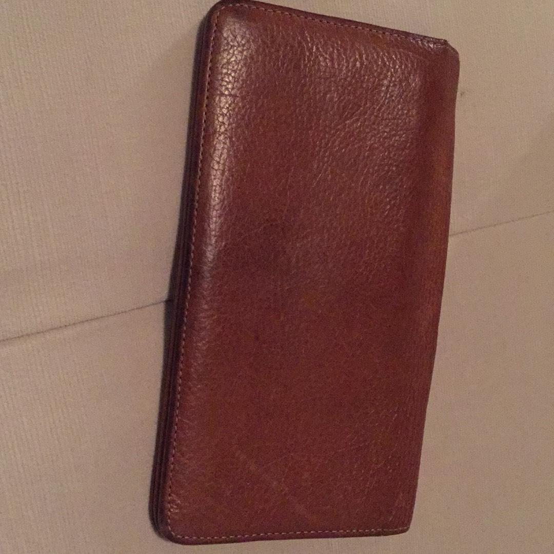 15d4d62feb ... best price mulberry oak natural leather with brass long locked purse  wallet tradesy f9ff2 a0611 ...