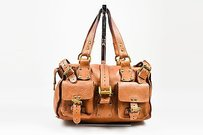 Mulberry Roxanne Oak Satchel in Brown