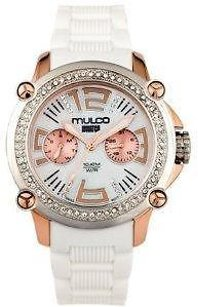 Mulco Mulco Mwatch Silicone Crystal Ladies Watch Mw2-28086s-011