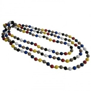 Multicolor Beads W/ Gold Beads Spacer 88 Inches Long Necklace Jewelry Set