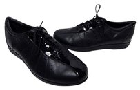 Munro American Munro Tori Leather Patent Laced Sneakers Black Athletic