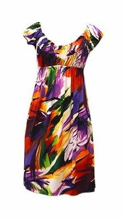 Muse short dress Multi-Color Multi Colored Ruched Cap on Tradesy