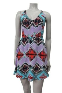 Myne short dress Multi-Color Ashley Ann Birdy Bali Strappy Open Back on Tradesy