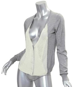 Nanette Lepore Womens Cotton Cashmere Knit Cardigan Sweater