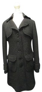 Nanette Lepore Wool Long Sleeves Button Front Lined 5504 A Pea Coat