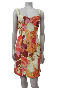 Nanette Lepore Colorful Floral Sleeveless Sheath Dress