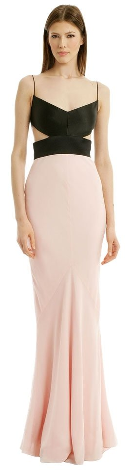 Narciso Rodriguez Gown Silk Crepe Silk Cut Out Dress
