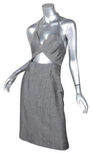 Narciso Rodriguez Womens Woollinen Sleeveless Cutout Sheath Dress