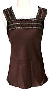 Natori Embroidered Top Brown