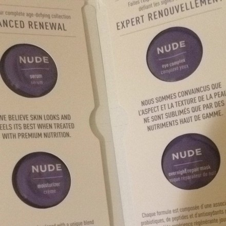 Nearly Nude Nude Beauty Skincare Samples Serum Moisturizer Cleanser Eye Complex & Mask
