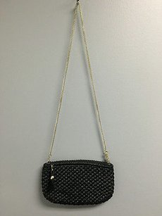 Neiman Marcus Woven Top Black Clutch