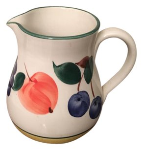 Neiman Marcus Hand Painted Pitcher Decor Vase