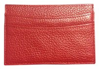 Neiman Marcus Neiman Marcus Red Leather Card Holder